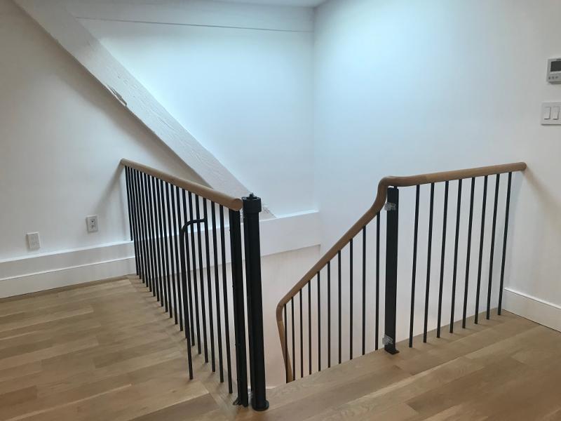 Modern stair gate - black open